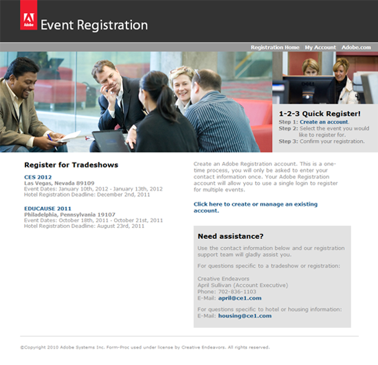 Adobe Event Registration